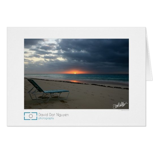 Sunrise at Elbow Beach, Bermuda Card