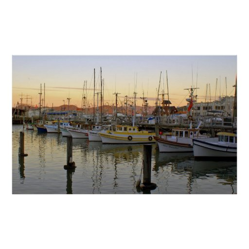Sunrise at Fisherman's Wharf Poster