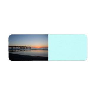 sunrise at fishing pier return address label