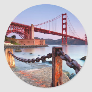 Sunrise At Fort Point Round Sticker