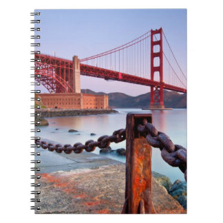 Sunrise At Fort Point Spiral Notebook