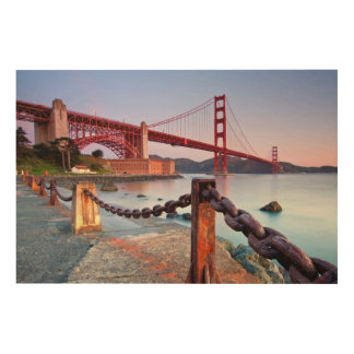 Sunrise At Fort Point Wood Print