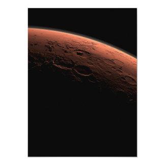 Sunrise at Gale Crater Planet Mars 14 Cm X 19 Cm Invitation Card