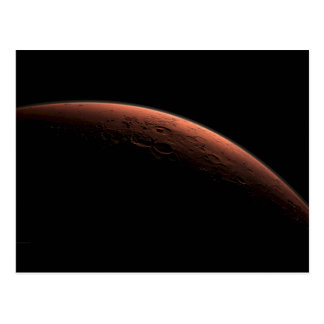 Sunrise at Gale Crater Planet Mars Postcard