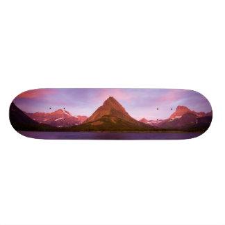 Sunrise at Glacier Custom Skateboard