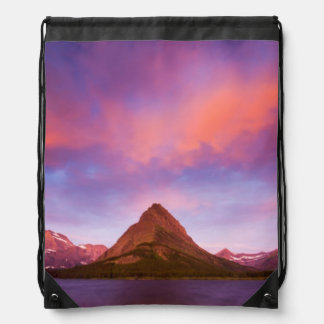 Sunrise at Glacier Drawstring Bag