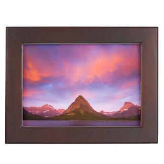 Sunrise at Glacier Keepsake Box