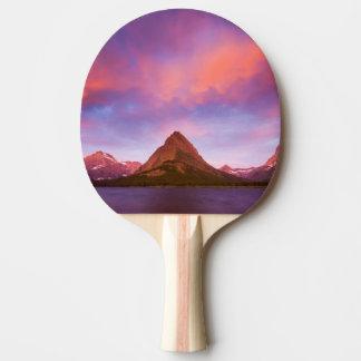 Sunrise at Glacier Ping Pong Paddle