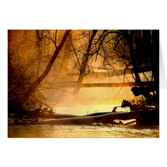 Sunrise At Huffman Lake & Mad River Card