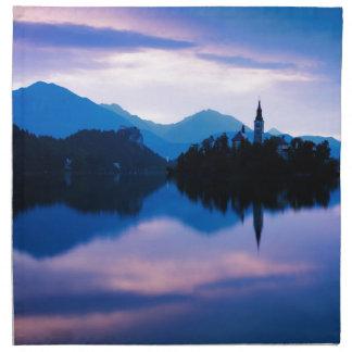 Sunrise at Lake Bled Napkin