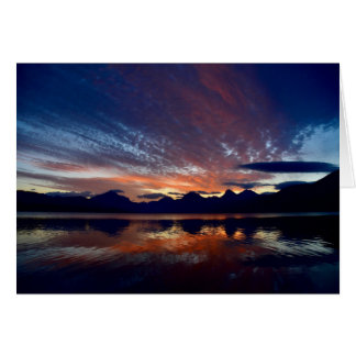 Sunrise at Lake McDonald Card