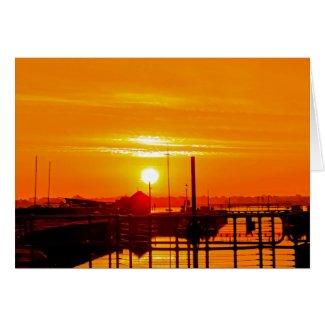 Sunrise at Lydney Harbour Card