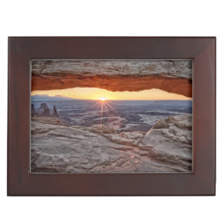 Sunrise at Mesa Arch, Canyonlands National Park Keepsake Box