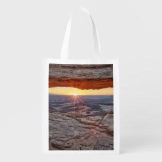 Sunrise at Mesa Arch, Canyonlands National Park Reusable Grocery Bag