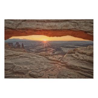 Sunrise at Mesa Arch, Canyonlands National Park Wood Wall Decor