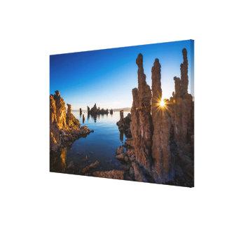 Sunrise at Mono lake, California Canvas Print