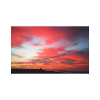 Sunrise at Newport Beach, CA Canvas Print