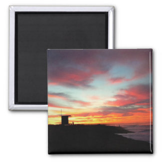 Sunrise at Newport Beach, CA Magnet