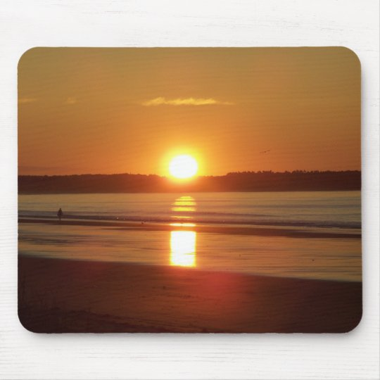 Sunrise at Old Orchard Beach, Maine Mouse Mat