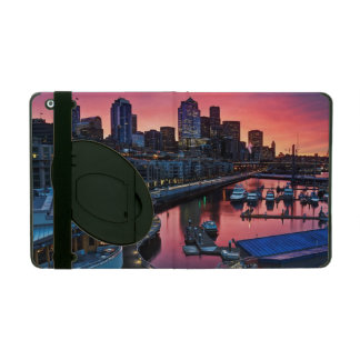 Sunrise at pier 66 looking down on bell harbor iPad case