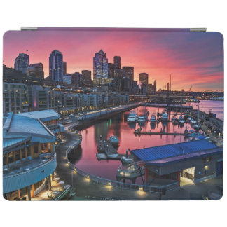Sunrise at pier 66 looking down on bell harbor iPad cover
