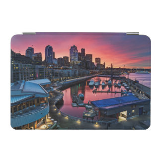 Sunrise at pier 66 looking down on bell harbor iPad mini cover