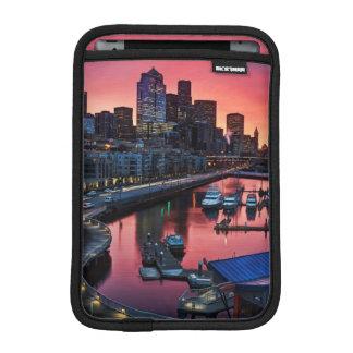 Sunrise at pier 66 looking down on bell harbor iPad mini sleeve