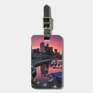 Sunrise at pier 66 looking down on bell harbor luggage tag