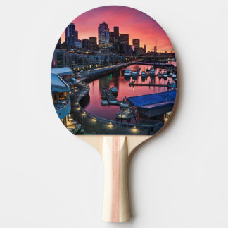 Sunrise at pier 66 looking down on bell harbor ping pong paddle