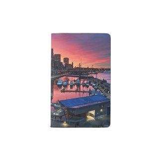 Sunrise at pier 66 looking down on bell harbor pocket moleskine notebook