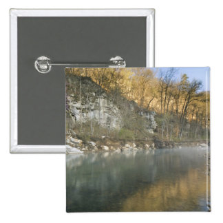 Sunrise at Roark Bluff, Steel Creek access, 15 Cm Square Badge