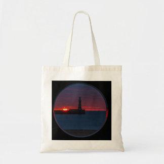 Sunrise at Roker Lighthouse-England Bag