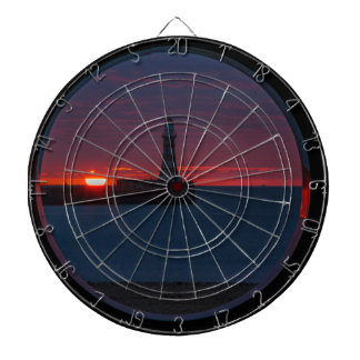 Sunrise at Roker Lighthouse-England Dartboard