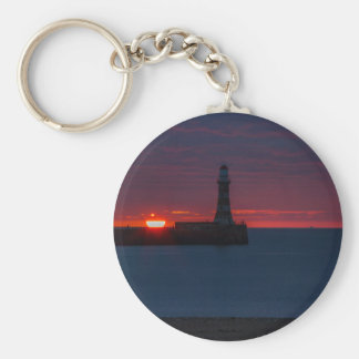 Sunrise at Roker Lighthouse-England Keychain