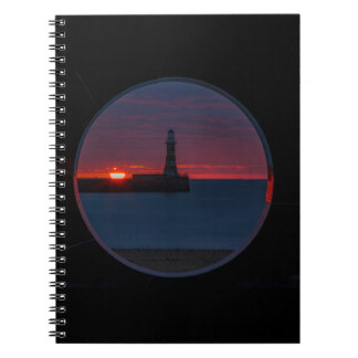 Sunrise at Roker Lighthouse-England Notebook