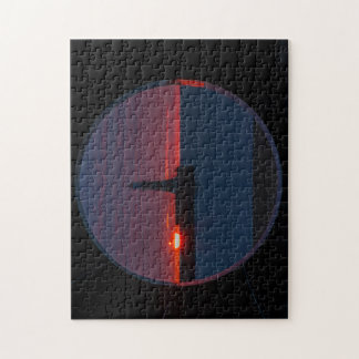 Sunrise at Roker Lighthouse-England Puzzle/Jigsaw Jigsaw Puzzle