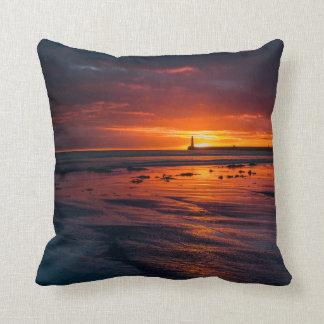 Sunrise at Roker Throw Pillow