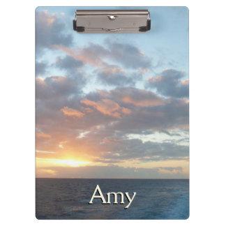 Sunrise at Sea I Pastel Seascape Clipboard