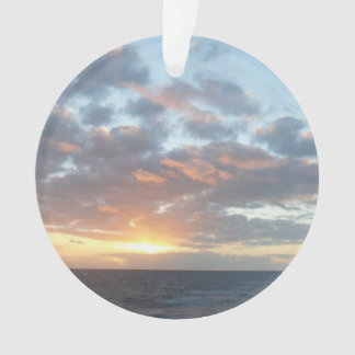 Sunrise at Sea I Pastel Seascape Ornament