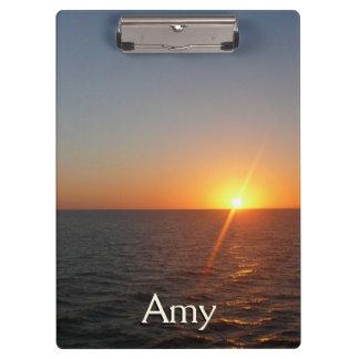 Sunrise at Sea III Ocean Horizon Seascape Clipboards