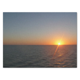 Sunrise at Sea III Ocean Horizon Seascape Tissue Paper