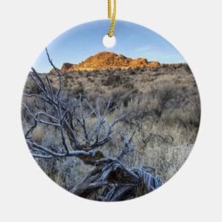 Sunrise at Squaw Creek, Owyhee County, ID Christmas Ornament