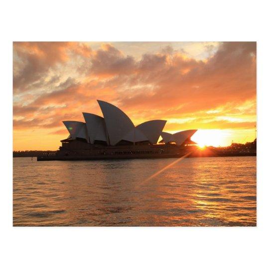Sunrise at Sydney Opera House Postcard