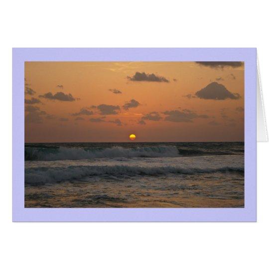 Sunrise at the Beach Card