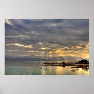 Sunrise at the Dead Sea Israel Photo Poster