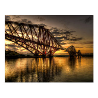 Sunrise at the Forth Rail Bridge Postcard