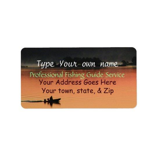 Sunrise at the Lake Labels-customise Address Label