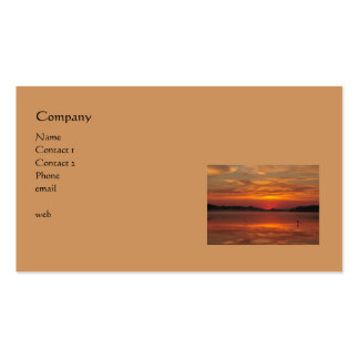 Sunrise at the lake with early birds pack of standard business cards