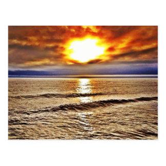 Sunrise at the OBX of North Carolina  ocean Postcard