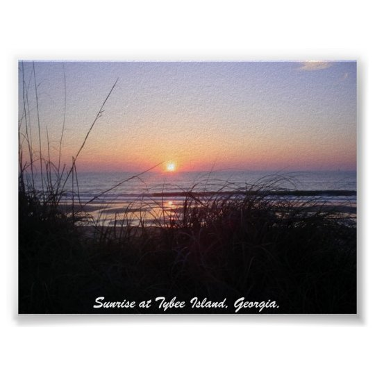 Sunrise at Tybee Island,... Poster
